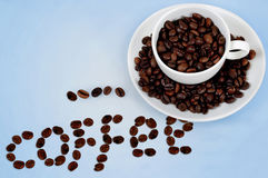 Coffee word Royalty Free Stock Photography