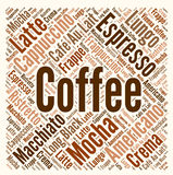 Coffee word cloud. Concept illustration Stock Photo