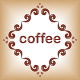 Coffee word frame Royalty Free Stock Images