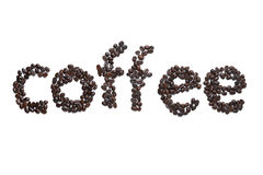 Coffee word Stock Images