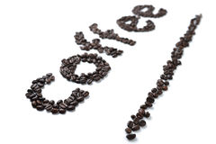 Coffee word Stock Photo
