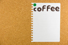 Coffee word made from coffee beans Royalty Free Stock Image