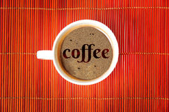 Coffee word Stock Image