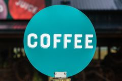 Coffee Word Disk Sign Royalty Free Stock Photos