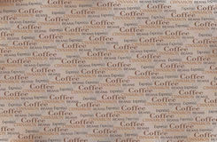 Coffee words background Stock Image