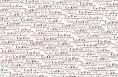 Coffee words background Stock Photography