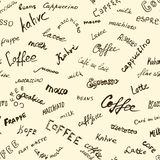 Coffee words background Royalty Free Stock Photos