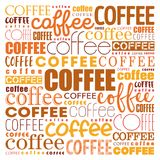 Coffee words cloud collage. Art concept background Royalty Free Stock Image