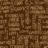 Coffee words seamless pattern Royalty Free Stock Image