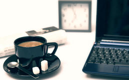 Coffee at work Stock Photography