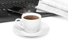 Coffee at work Royalty Free Stock Images