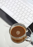 Coffee in working time Stock Image