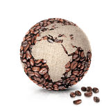 Coffee world 3D illustration europe and africa map Stock Photography