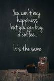 Coffee with written phrase Royalty Free Stock Photos