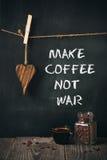 Coffee with written phrase Stock Photos