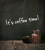 Coffee with written text Stock Photography