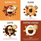 Coffee 2x2 Design Concept Royalty Free Stock Images