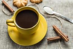 Coffee in yellow Stock Photos