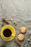 Coffee in yellow Stock Photo