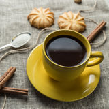 Coffee in yellow Royalty Free Stock Photo