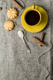 Coffee in yellow Royalty Free Stock Images