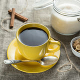 Coffee in yellow Royalty Free Stock Photography