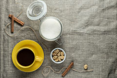 Coffee in yellow Stock Image