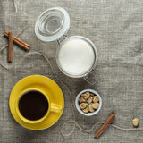 Coffee in yellow Stock Photography