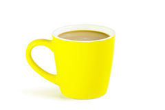 Coffee yellow cup Royalty Free Stock Image