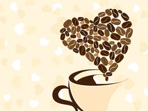 Coffee for your loved one. Vector illustration. Royalty Free Stock Image