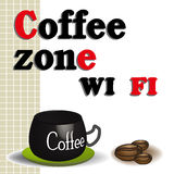 Coffee zone wi fi Stock Photos