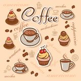 Coffeeart background Royalty Free Stock Photos