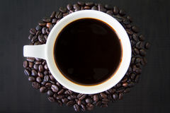 Coffeebean white cup Royalty Free Stock Photos