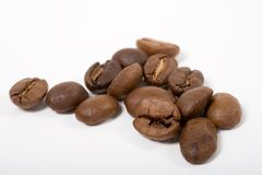 Coffeebeans de cheiro de algum bom fotos de stock