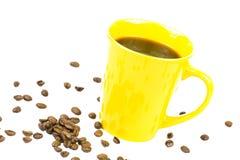 Coffeebeans kopp Royaltyfri Foto