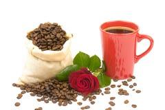 Coffeebeans kopprosor 3 Arkivbild