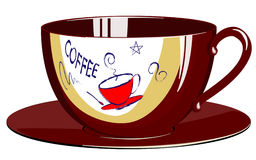 Coffeecup. Morning cup of coffee, a vector an illustration royalty free illustration