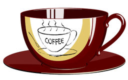Coffeecup. Morning cup of coffee, a vector an illustration stock illustration