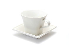 Coffeecup. White coffeecup on saucer and white background Royalty Free Stock Photography