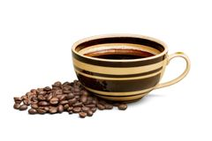 Coffeecup. Cup coffee mug black caffeine drink porcelain Royalty Free Stock Photos