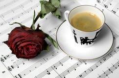 coffeecup czerwień wzrastał Obraz Royalty Free