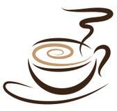 Coffeecup estilizado ilustração royalty free