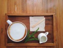 Coffeecup filiżanki odgórny widok Zdjęcia Stock