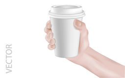 CoffeeCup&Hand royalty free illustration