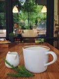 Coffeecup het werken Stock Foto