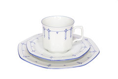 Coffeecup saucer plate china isolated Royalty Free Stock Photography