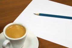 Coffeee et note Image libre de droits
