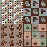 Coffeee pattern Stock Image
