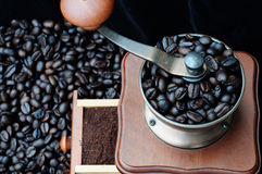Coffeegrinder. Is working at my house Royalty Free Stock Photos