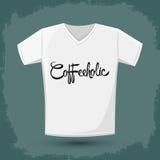 Coffeeholic, coffee addict vector shirt design Stock Photo